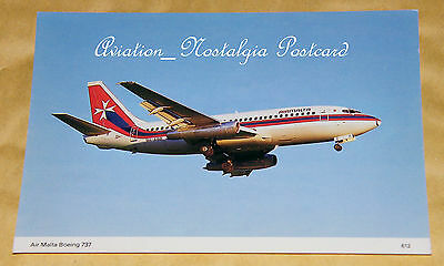 Air Malta Boeing 737 9H-ABB, Aviation Postcard