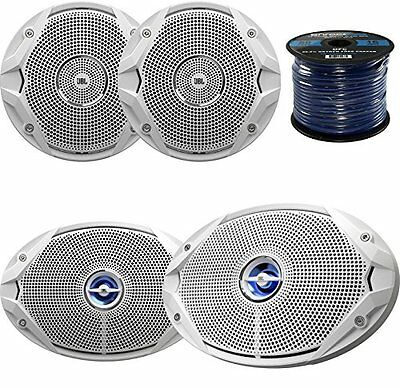 "2x JBL MS9520 6x9"" Coaxial Marine Speakers, 2x JBL MS6510 6.5"" Boat Speakers"
