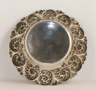 Antique Sterling Silver Bowl  (6 x 6 x 1.5 in.)