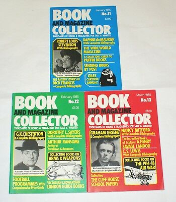 Book and Magazine Collector Issues 11 -13 Chesterton Greene Stevenson Lewis 1985