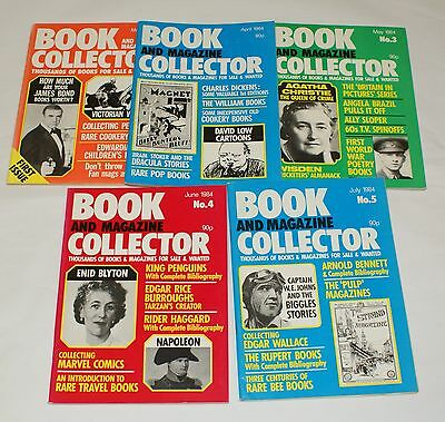 Book and Magazine Collector Issues 1 - 5 James Bond Dickens Christie Blyton 1984