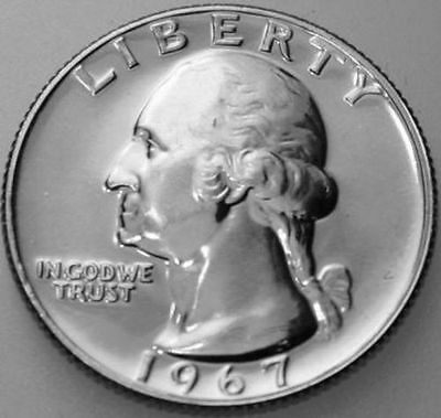 1967-P Washington Quarter From Special Mint Set SMS