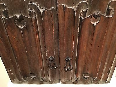 Two 16th Century Oak Linefold Carved Doors