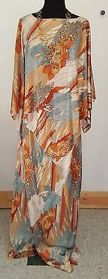 Fantastic ONE OF A KIND Vintage 60s Cape Poncho Blouse + Maxi Skirt, S/M