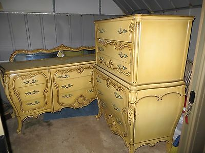 Antique French Provincial Dressers and Mirror, great condition