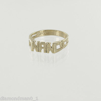 9ct Yellow Gold NAN Ring and Signet Rings in Finger Sizes I-Q