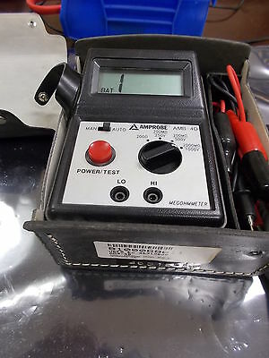 Amprobe AMB-4D Megohmmeter Power/Test