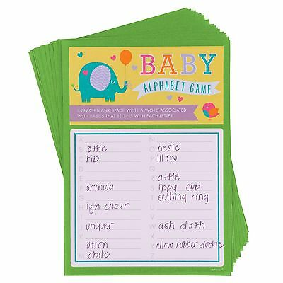 Baby Shower Party Alphabet A-Z Word Game Activity For Up To 24 Players