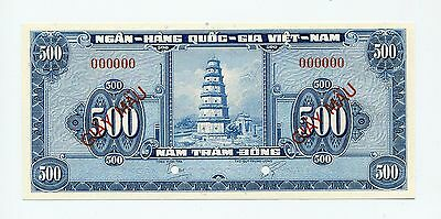 Viet Nam (South), Specimen (Giay Mau) 500 Dong 1955, Pick 10, Gem Uncirculated