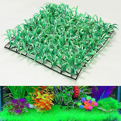 25*25cm Artificial Green Grass Fish Tank Ornament Plant Aquarium Garden Lawn