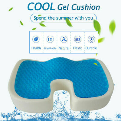 Gel Coccyx Seat Cushion Tailbone Pillow for Hip Sciatica Back Pain Relief