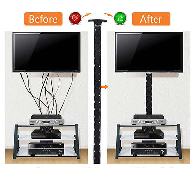 2x Cable Management Sleeve Wrap Wire Cord Organizer System For TV Computer Home