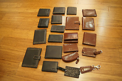Genuine Leather Branded Purses, Wallets, Access. Pierre Cardin, Saddler, Wenger