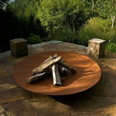 60cm Corten Steel Fire Pit with 1 x FREE Pouch of Eco Fire Lighters/Bonfire