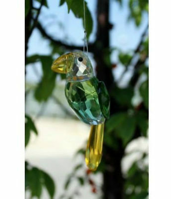 Crystal Birds Light Catchers for Hanging Outdoor or Indoor Long Metal String D06