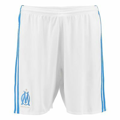 adidas Mens Gents Football Official Olympique de Marseille Home Shorts 2017-18