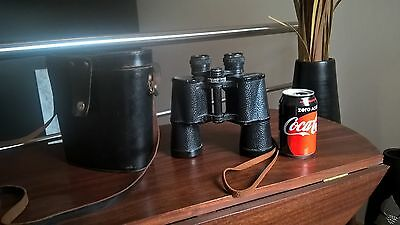 "Vintage Big ""Russian Binoculars 7X50"" made in USSR with Leather case from 60´s"