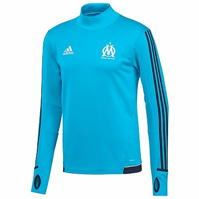 adidas Childrens Football Official Olympique de Marseille Training Top - Blue