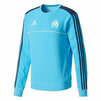 adidas Mens Football Official Olympique de Marseille Training Sweat Top - Blue
