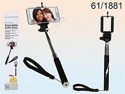 Extendable Selfie Stick, for high angle pictures mobiles cameras 61/1881