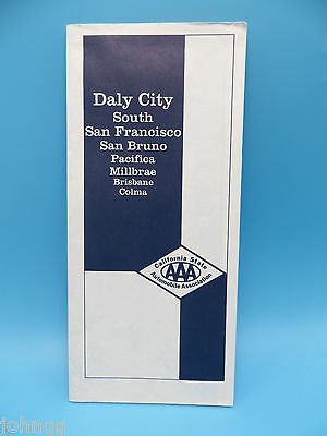 Vintage 1993 AAA Map - Daly City, South San Francisco, San Bruno, California