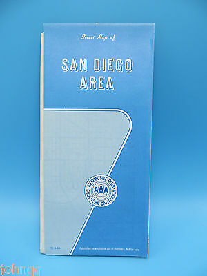 Vintage 1986 AAA Map - San Diego California Area