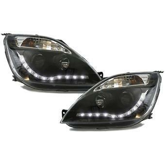 Ford Fiesta MK6 2002-2005 Black Style LED DRL Headlights Day Running Lights