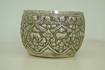 Early Thai Burmese Silver Bowl