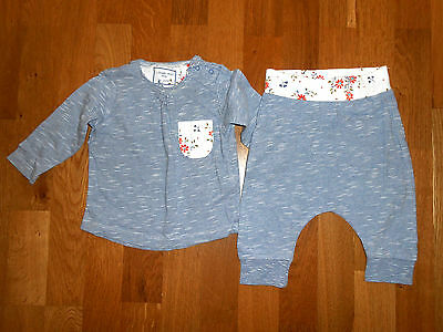 *** New - Next Girls Pajama Top And Trousers  Age 3 - 6 Months
