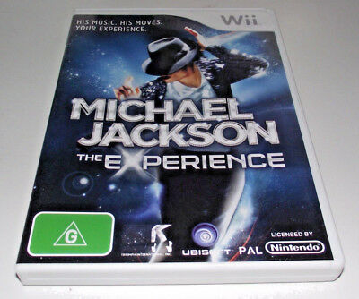Michael Jackson The Experience Nintendo Wii PAL *Complete* Wii U Compatible