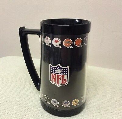 ULTRA RARE • NFL VINTAGE EARLY 70's FOOTBALL HELMETS THERMO SERV MUG • WEST BEND