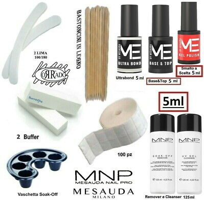 Kit Smalti Semipermanente Unghie Gel Polish 5ml Mesauda Milano Professionale.