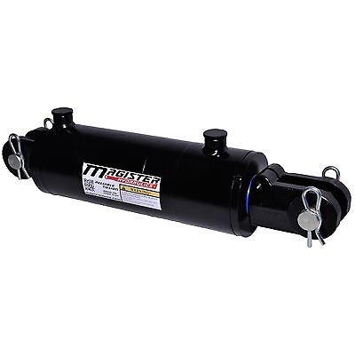 "Hydraulic Cylinder Welded Double Acting 4"" Bore 12"" Stroke Clevis End 4x12 NEW"