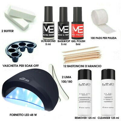 Kit Smalti Unghie Semipermanente Gel Polish Mesauda 10ml con Fornetto UV 36w PRO