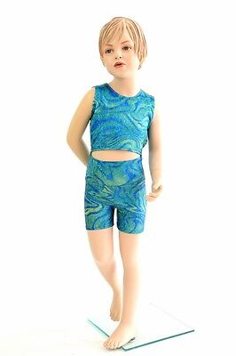 Kids Size 2T Tsunami Sparkly Mermaid Ocean Shorts & Top Set Ready to Ship!