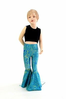 Kids 8 Tsunami Sparkle Bell Bottom Flare Pants Mermaid Dress Up Ready to Ship!