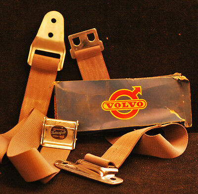 """1958 Vintage Volvo Two-Point Swedish """"Vattenfall"""" Seatbelt (Sold Individually)"""