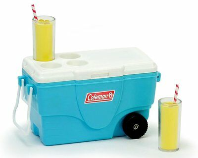 """Coleman Cooler w/Lemonade for 18"""" American Girl Doll Food Beach Drinks Accessory"""