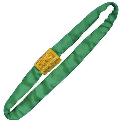 Round Lifting Sling Endless Heavy Duty Polyester Green 10'