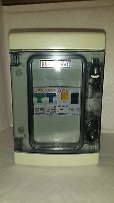 Garage Consumer unit IP55 63amp 30ma RCD + 6+20amp or 6+32amp type b MCB's