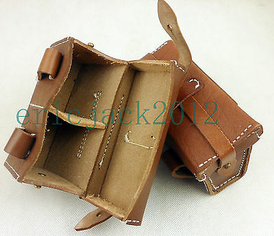 1pc WWII Japanese IJA Military Ammo Pouch Leather Waist Ammo Bag Front-D1125