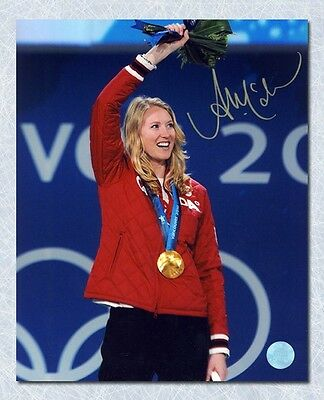 Ashleigh Mcivor Canada Autographed Olympic Games Gold Medal 8x10 Photo
