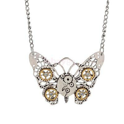 Hot Vintage Steampunk Jewelry Machinery Gear Pendant Necklace Chain