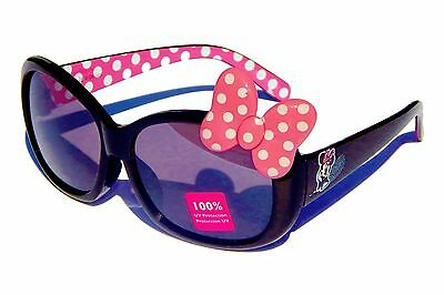 MINNIE MOUSE DISNEY JUNIOR 100% UV Shatter Resistant Sunglasses w/ Pink Bow $12