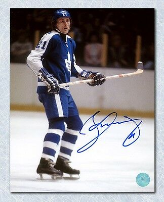 Borje Salming Toronto Maple Leafs Autographed Rookie Action 8x10 Photo