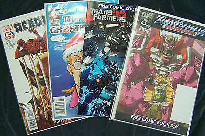 Mixed Lot of Comics Ghostbusters,Transformers,Deadpool