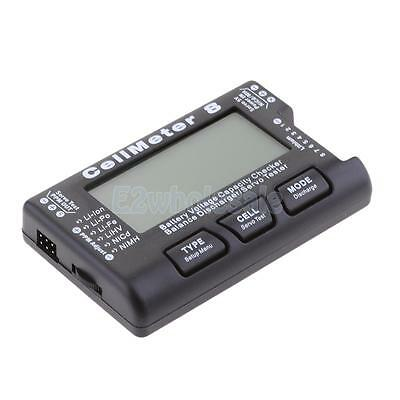 CellMeter 8 2-8S LCD Display Battery Checker Balance Discharger/Servo Tester