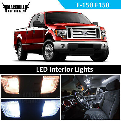 White LED Interior + Reverse Light Accessory Package Kit for 09-14 Ford F-150