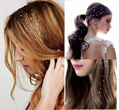 Hair Jewellery Temporary Tattoos Jewels Gold Silver Red Charm Gem Stickers UK