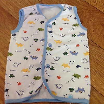 Baby Boy Size 000 Summer T Shirt Top Vest White As new ⭐️